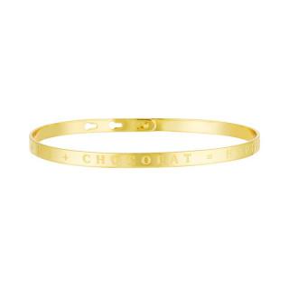 YOU ME CHOCOLAT HAPPINESS bracelet jonc doré à message
