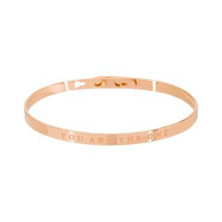 YOU ARE THE ONE bracelet jonc rosé à message