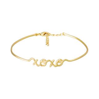XOXO Bracelet jonc en fil lettering doré à message