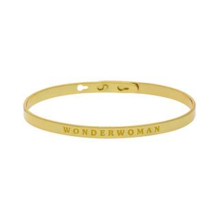WONDERWOMAN bracelet jonc doré à message