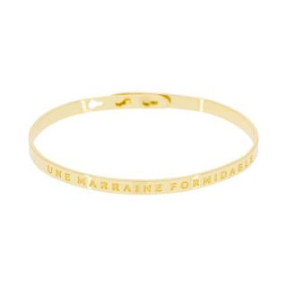 UNE MARRAINE FORMIDABLE Jonc doré bracelet à message