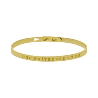 UNE MAÎTRESSE EN OR bracelet jonc doré à message