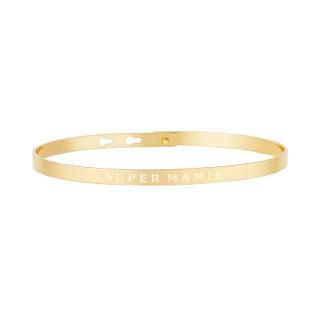 SUPER MAMIE bracelet jonc doré à message