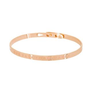UNE TATA FORMIDABLE Jonc rosé bracelet à message