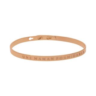 UNE MAMAN FORMIDABLE bracelet jonc rosé à message