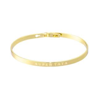 SUPER TATA bracelet jonc doré à message