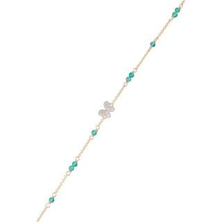 Bracelet Or Jaune Diamant et Agathe