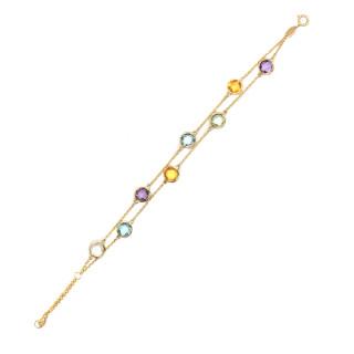 Bracelet Or jaune 375/1000 et pierres