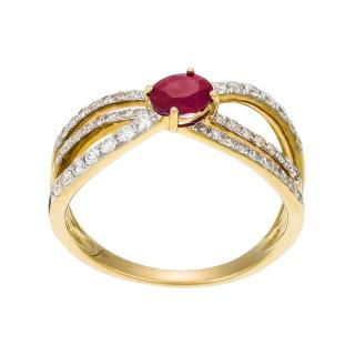 Bague Marvelous Rubis Or jaune et Diamants