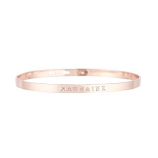 MARRAINE bracelet jonc rosé à message