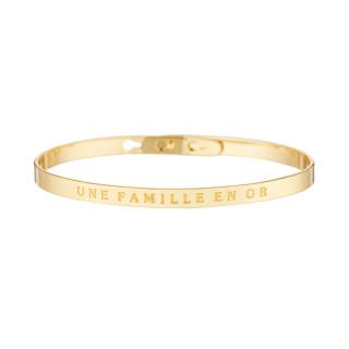 UNE FAMILLE EN OR bracelet jonc doré à message