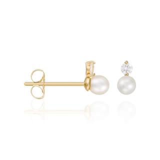 Boucles d'oreilles Or Jaune 375/1000 et Perle