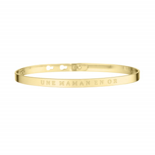 UNE MAMAN EN OR Jonc doré bracelet à message