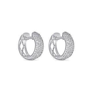 Boucles d'oreilles Or Blanc et Diamants 0,21 carat ALLÉE PRINCIÈRE