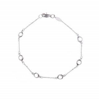 Bracelet Or Blanc et Topaze