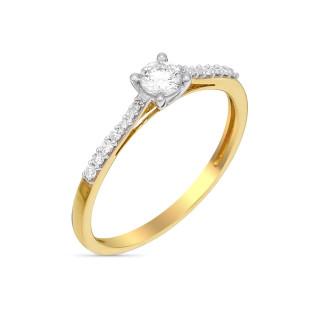 Solitaire Dis moi oui Or jaune et Diamants