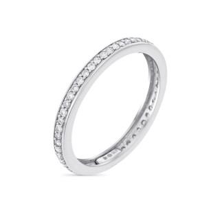 Bague Alliance Prestige Or blanc et Diamants