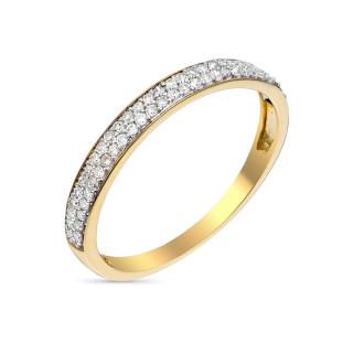 Bague Alliance Granité Or jaune et Diamants