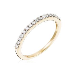 Bague Alliance Tour de diamants Or jaune et Diamants