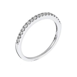 Bague Alliance Tour de Diamants Or blanc et Diamants