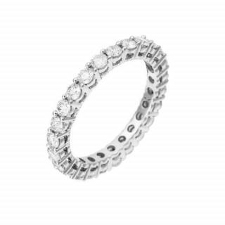 Bague Alliance Tour complet FOr blancever Or blanc et Diamants