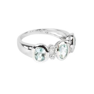 Bague Summertime Topaze Or blanc et Diamants