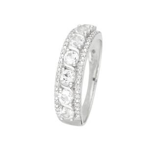 Bague Sitra Topaze Or blanc et Diamants
