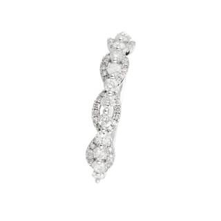 Bague Alliance Sirabe Or blanc et Diamants