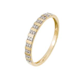 Bague Alliance Or jaune et Diamants