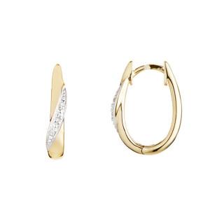 Boucles d'oreille Or Jaune 375 et Diamants