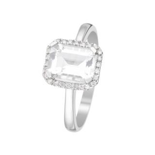 Bague Maestromantique Topaze Or blanc et Diamants