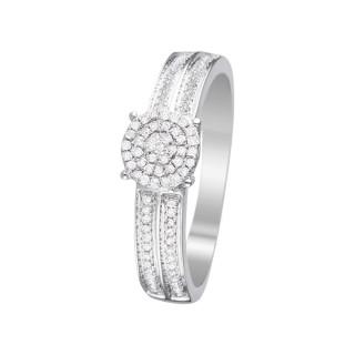 Bague Toi que j'aime Or blanc et Diamants