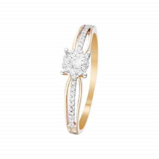 Bague La Promise Or jaune et Diamants