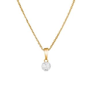 Pendentif Or Jaune IDYLLE Diamants 0,06 carat + chaîne vermeil offerte