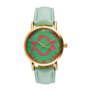 Muse - Montre Femme doré Manille - cadran vert rose bracelet vert