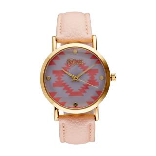 Muse - Montre Femme doré Manille - cadran gris rose bracelet rose