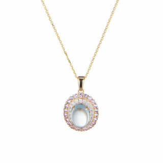 Pendentif Or Jaune Diamant et Pierre Précieuse