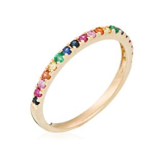Bague Colorful love Or jaune et Diamants