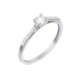 Solitaire Dis moi oui Or blanc et Diamants