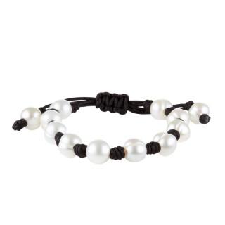 Bracelet perles de culture blanches Shamballa