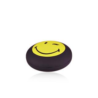 Bracelet cordon Smiley vermeil jaune et cordon rouge Noeud de Pap