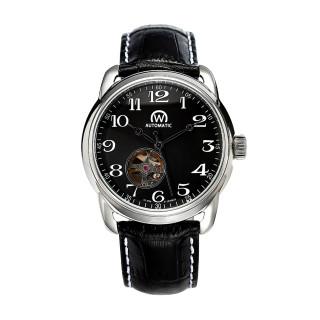 Montre Chronowatch History Automatique Noir Bracelet Cuir - HY5240C1BC1