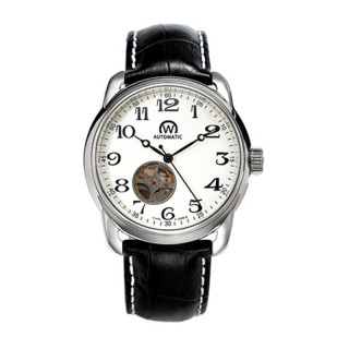 Montre Chronowatch History Automatique Blanc Bracelet Cuir - HY5240C3BC1