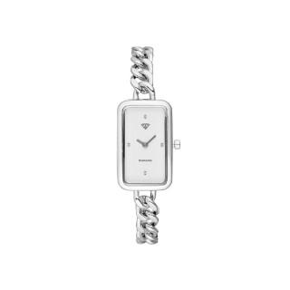 Montre Femme Clara Diamants 0,012 carats - Cadran blanc Bracelet métal argenté