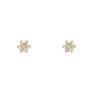 Boucles d'oreilles or jaune et oxydes de zirconium For Her