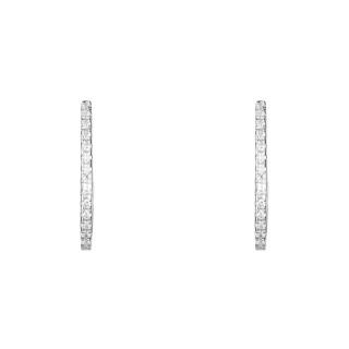 Boucles d'oreilles or blanc et oxydes de zirconium Alizée