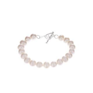 Bracelet argent et perles de culture blanches BDM Neige