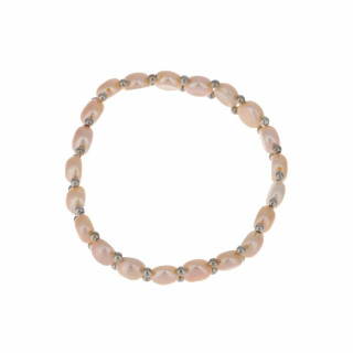 Bracelet argent et perles de culture roses Simplicité