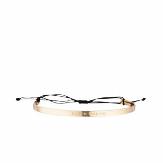 SUPER MAMAN Bracelet cordon doré à message