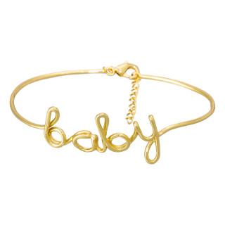 BABY Bracelet jonc en fil lettering doré à message